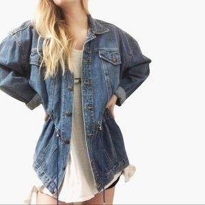 Vintage Taboo drawstring denim jacket (6)